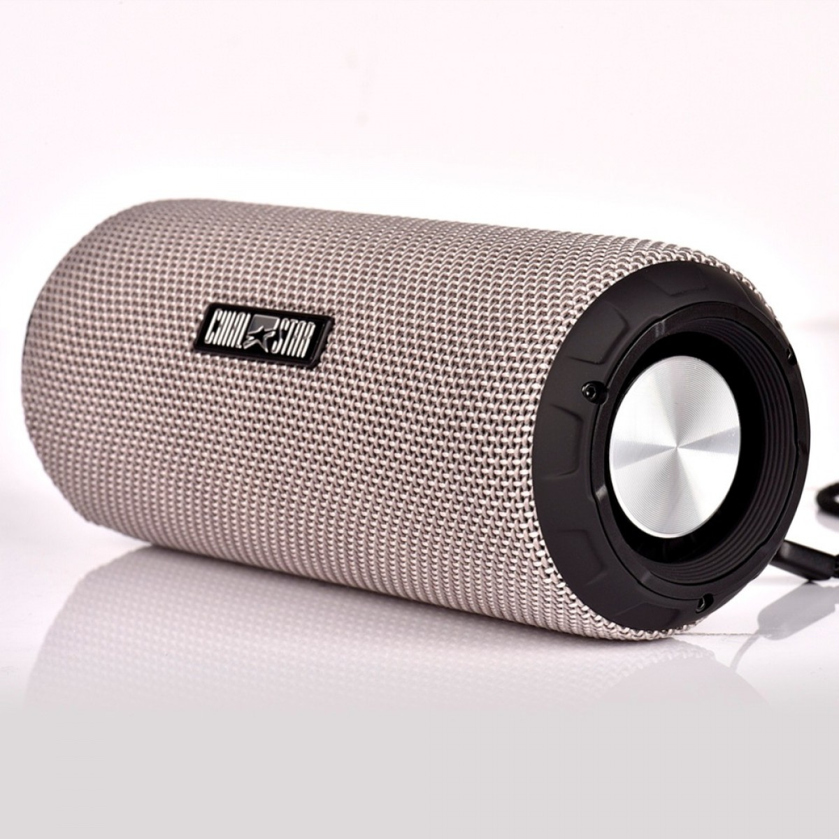 Portable Outdoor Speaker 12W Gray Fabric Covering Waterproof IPX6 Wireless  Bluetooth Speakers Music Player with Mic SD card
