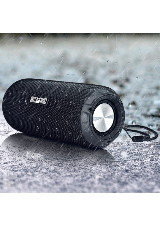 Chialstar M2 Portable Bluetooth Speakers 12W Wireless Sports Cool IPX 6 Waterproof Outdoor Music Speaker Black